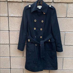 Michael Kors double breasted long pea coat